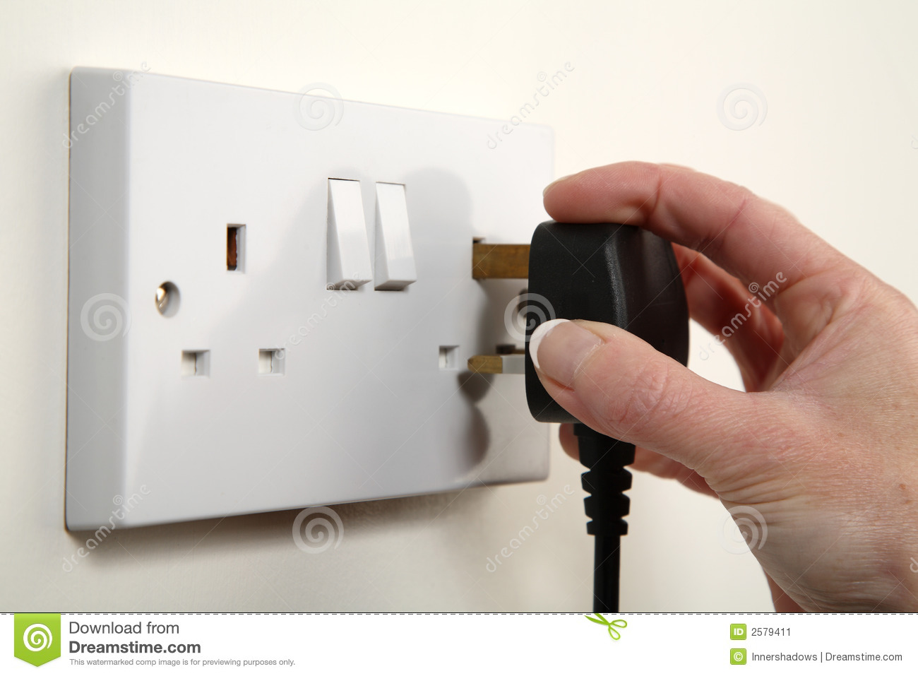 Stock Image Plugging Image2579411 on electrical outlet clip art