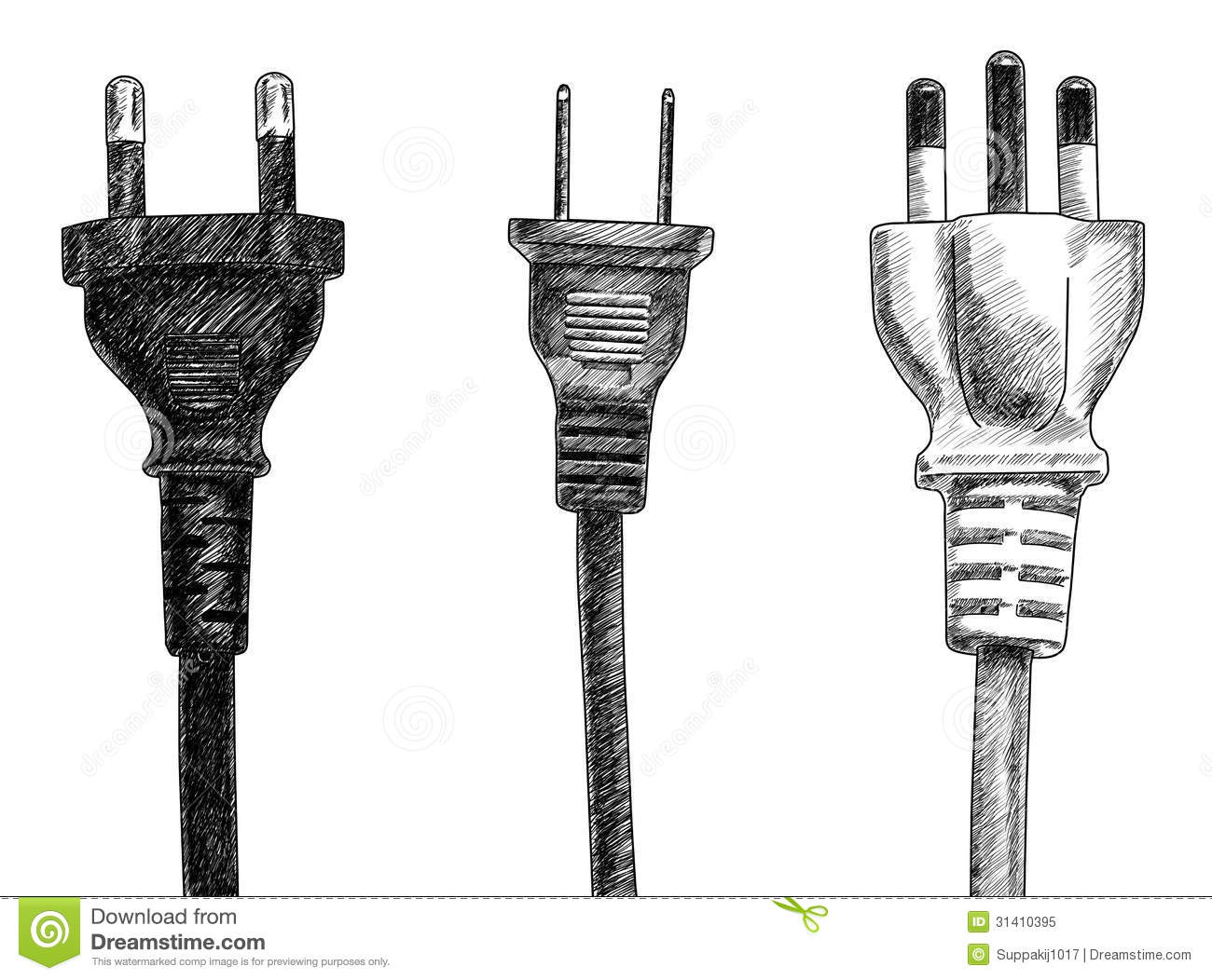 plugs stock illustration  image of object  sketching