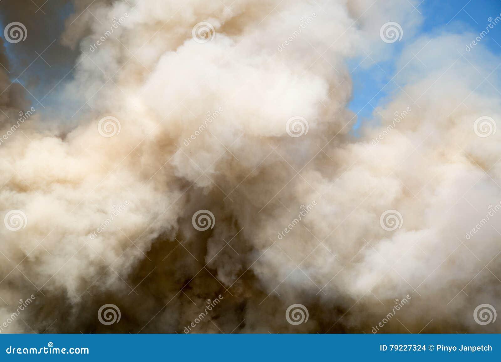 Pluizige Rookwolken van Rook