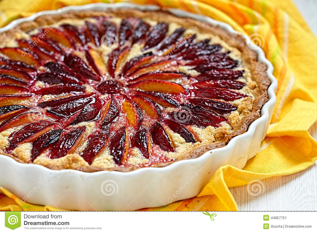 Download Plum and Almond Tart stock image. Image of cooking, homemade - 44857751