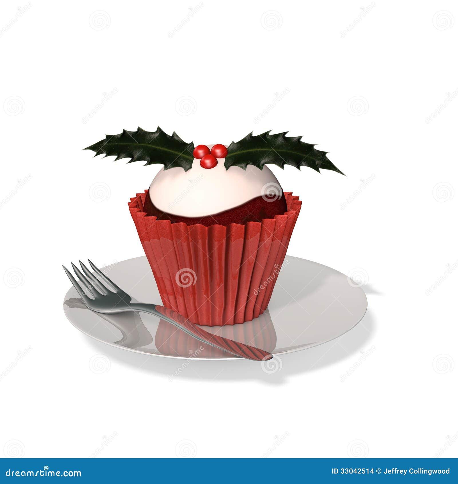 Plum Pudding Cupcake