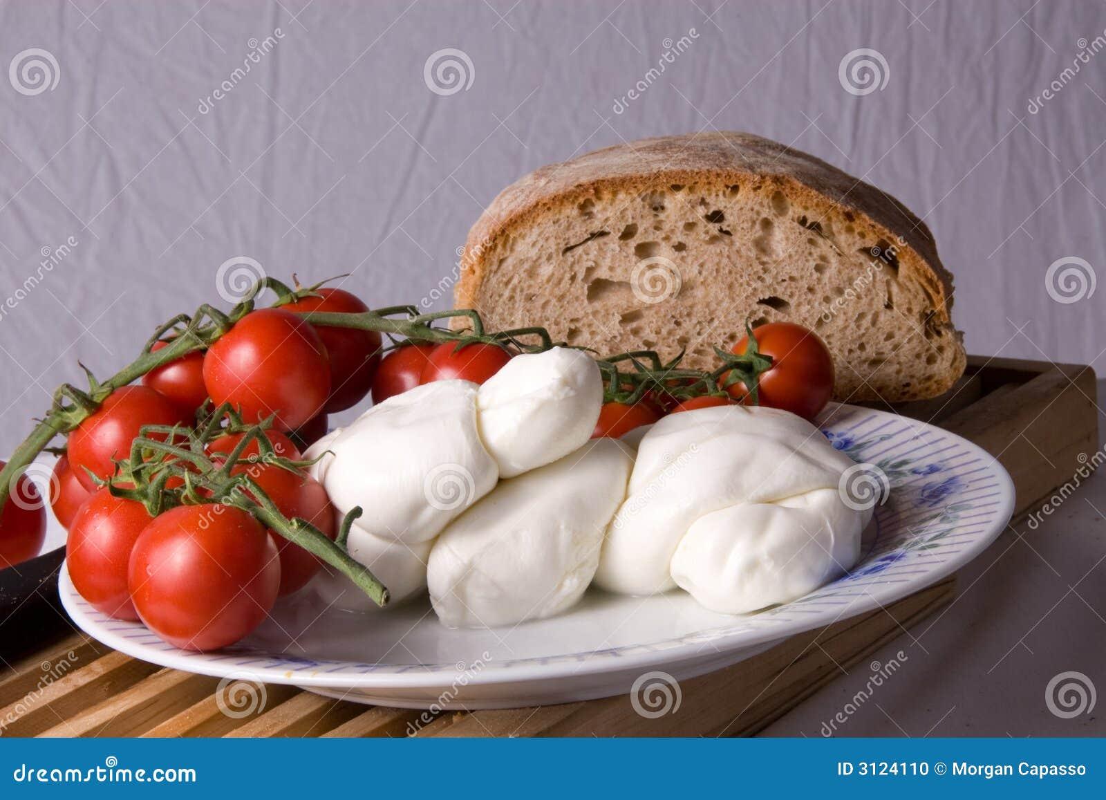 to make a simple salad called caprese. Fresh mozzarella and plum ...