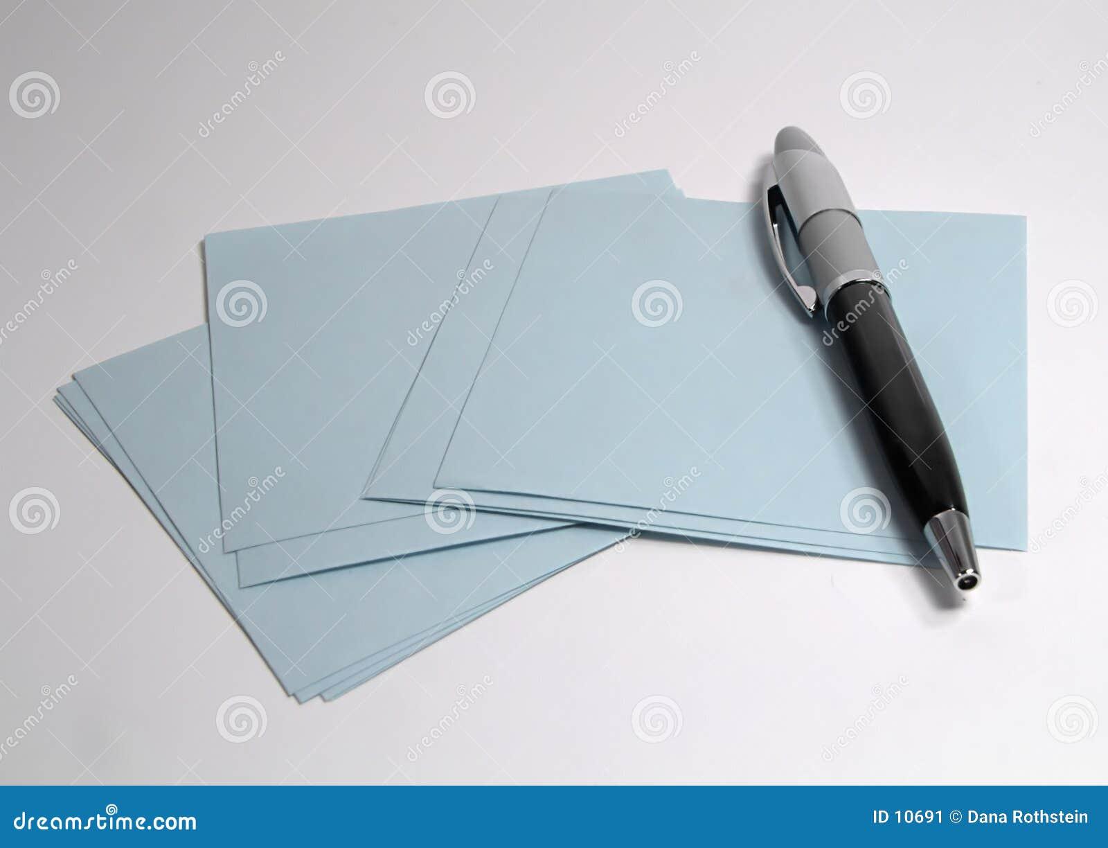 Pluma y papel