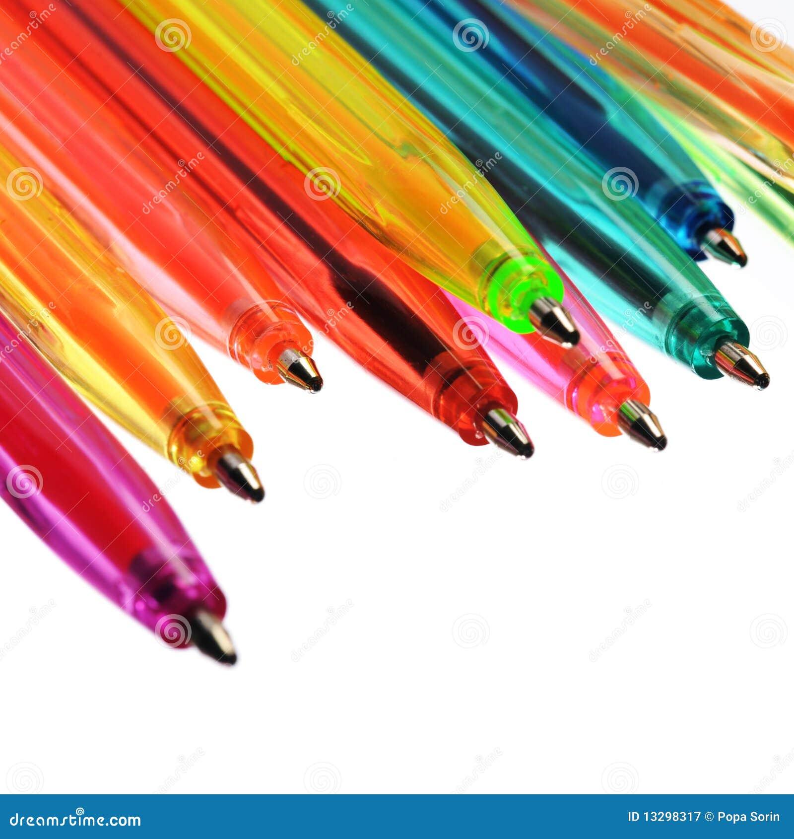 Plumas de neón de varios colores