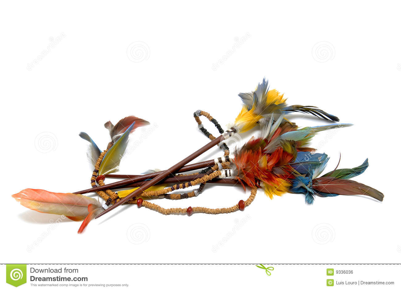 Plumas indias foto de archivo. Imagen de colorido, américa - 9336036