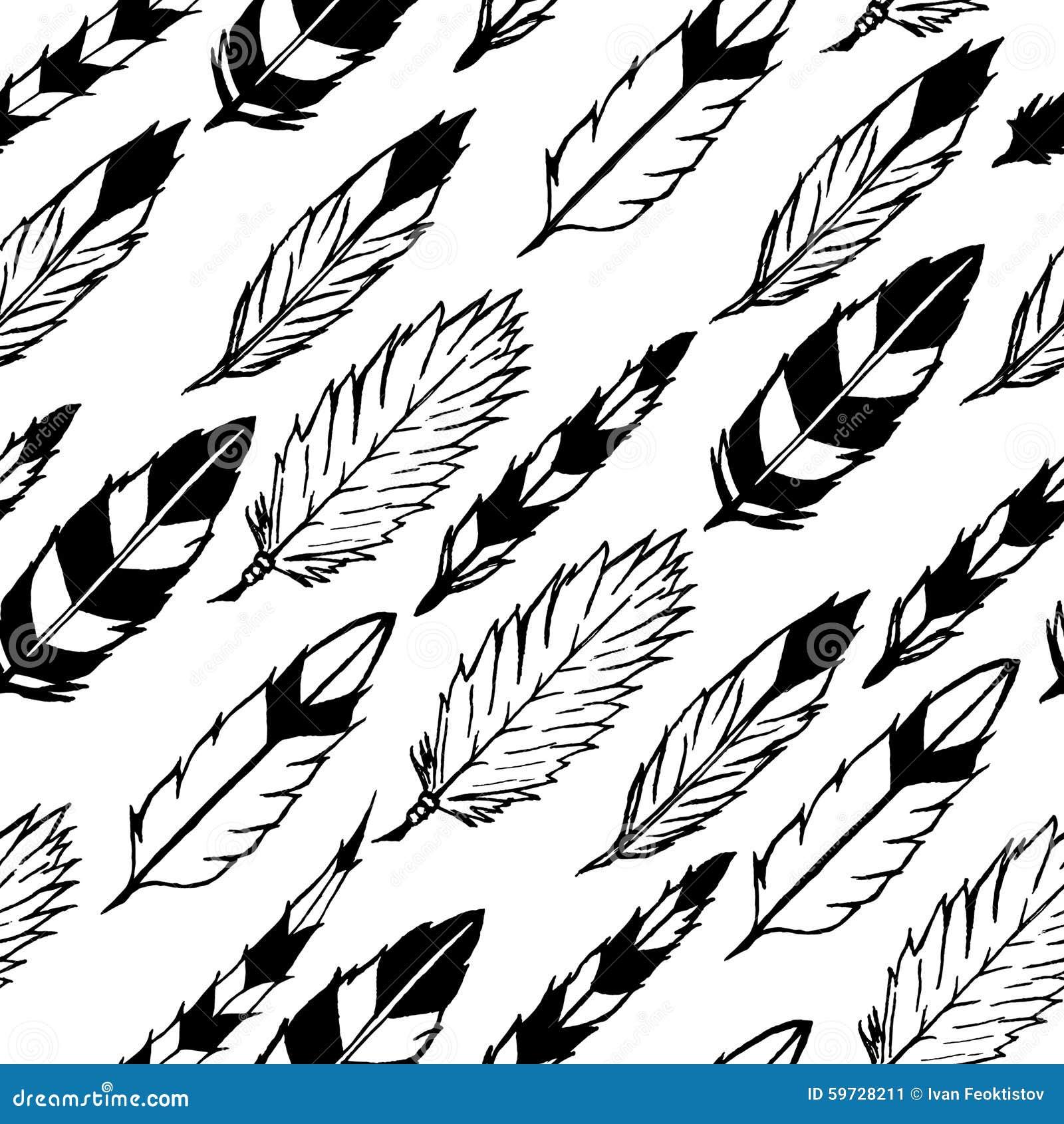 Plumas indias inconsútiles ilustración del vector. Ilustración de ...