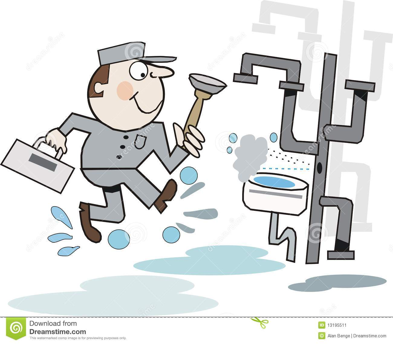 Plumber Cartoon Stock Image Image 13195511