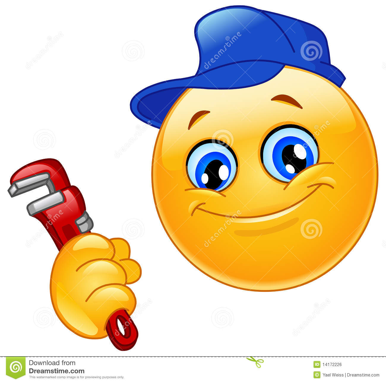 Plumber Emoticon Stock Vector Illustration Of Hand Icon