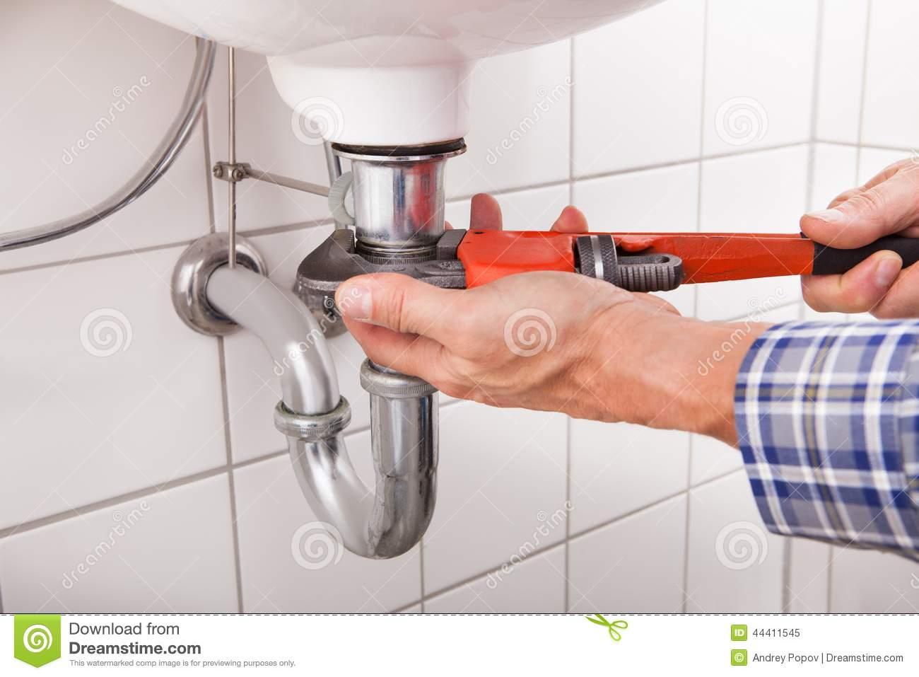 bathroom sink pipe repair plumber fitting sink pipe stock photo image 44411545 16546