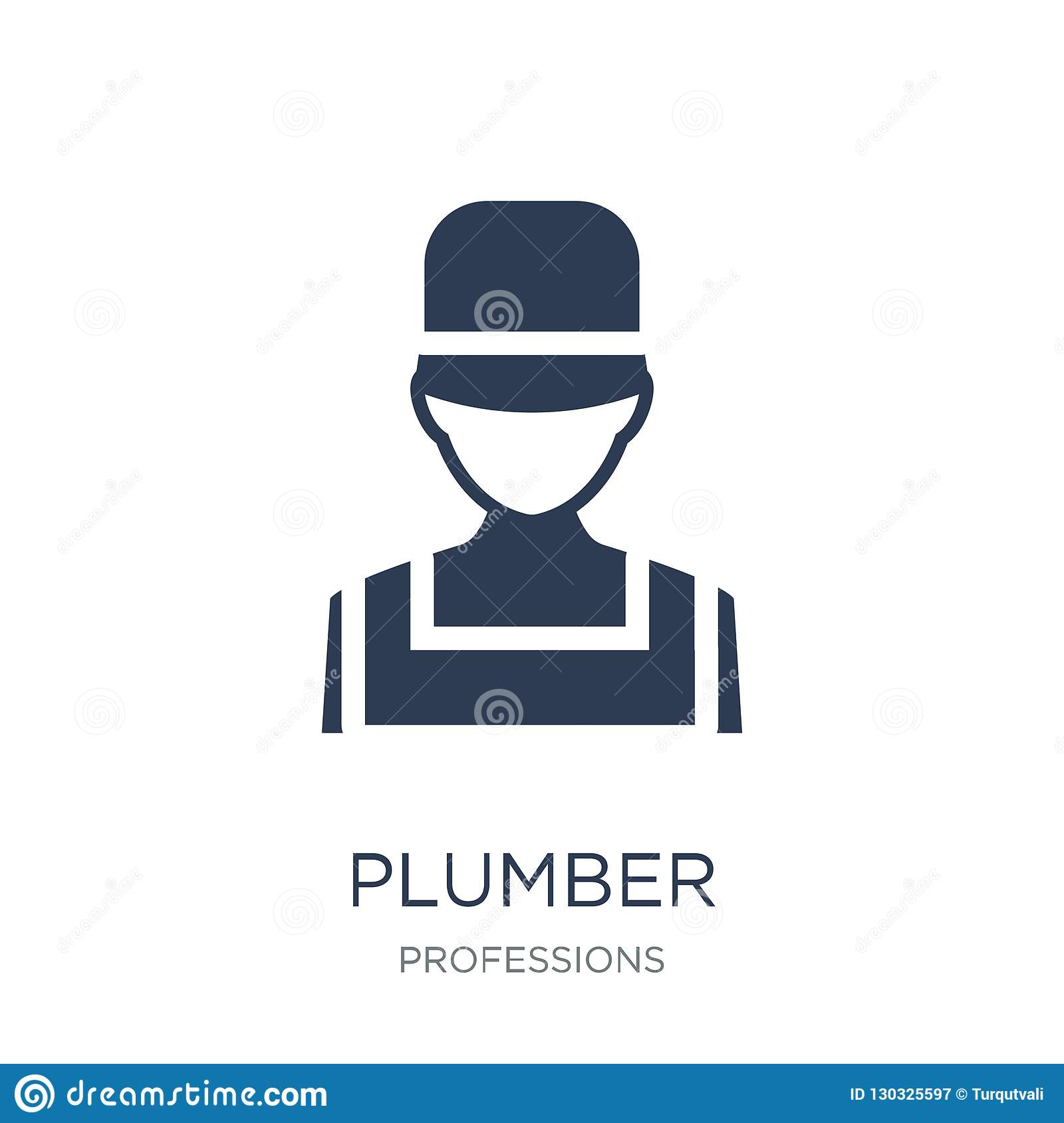 Plumber icon. Trendy flat vector Plumber icon on white background from Professions collection