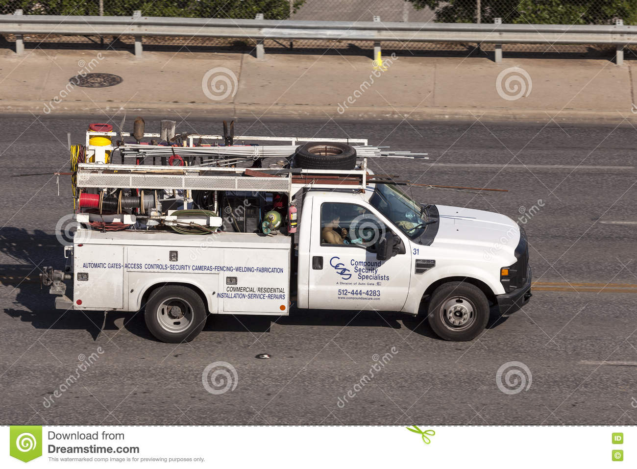 Plumber Pickup Truck in the United States