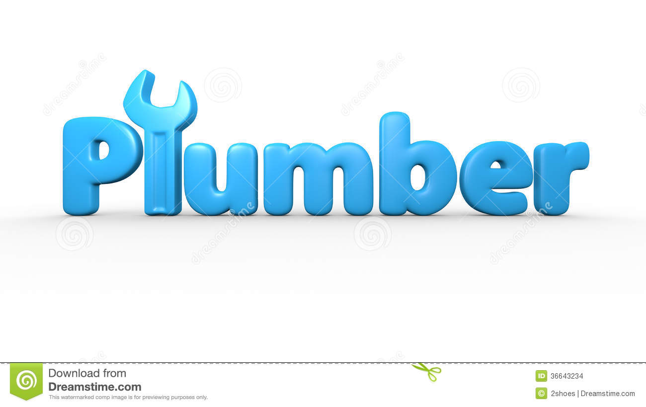 Plumber Text Logo Stock Images Image 36643234