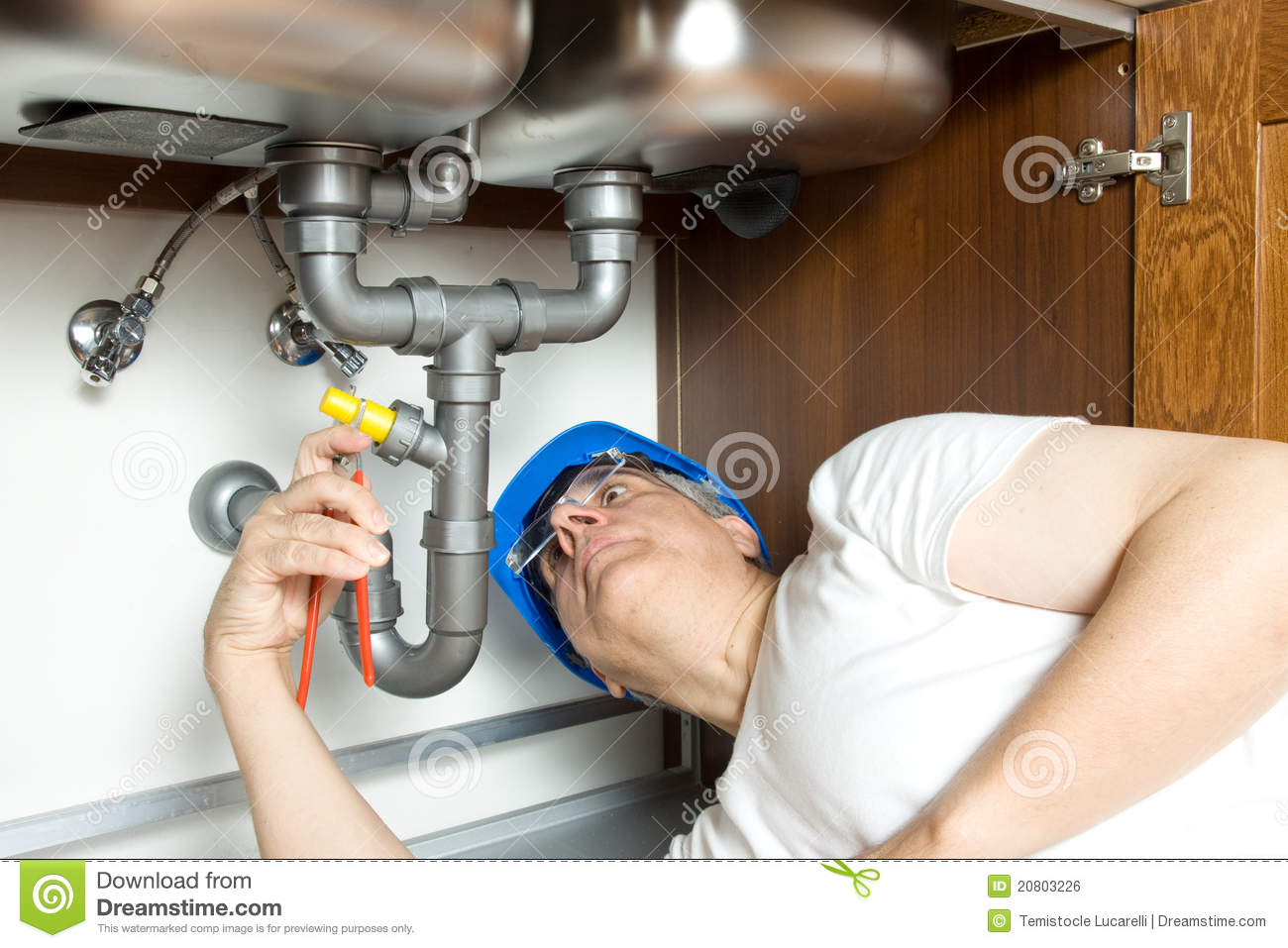 Plumber at work royalty free stock image image 20803226 for How does plumbing work