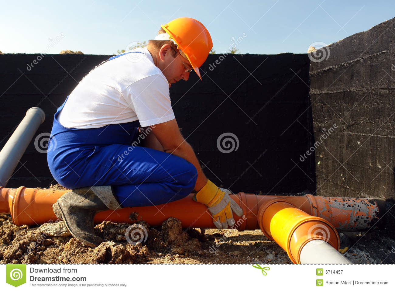 Plumber At Work Royalty Free Stock Photography Image