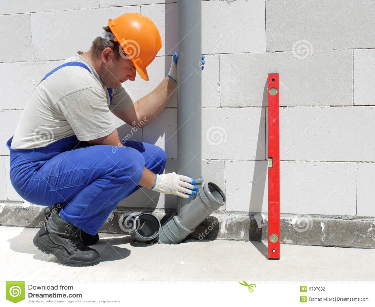 Plumber at work stock photography image 9797882 for How does plumbing work
