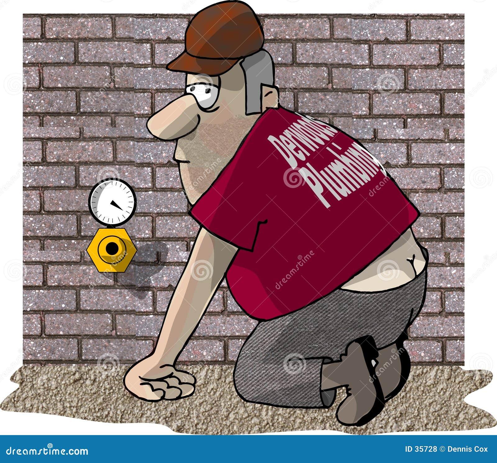 Plumbers Crack stock illustration. Image of pressure