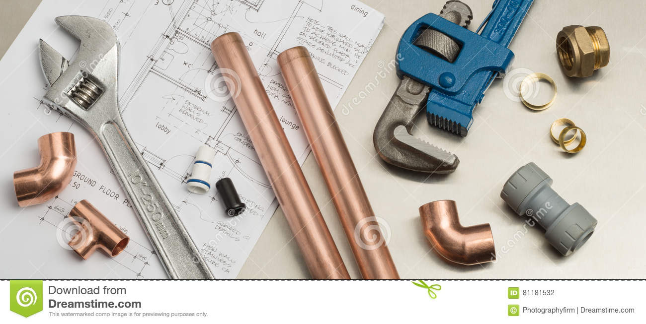 House plumbing web banner for promotion repair services