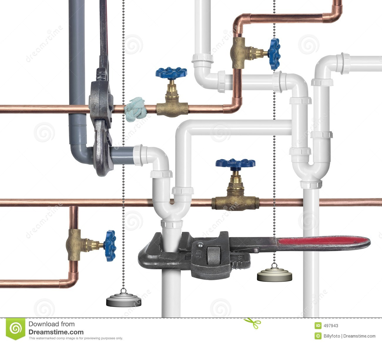 Plumbing Pipes Background
