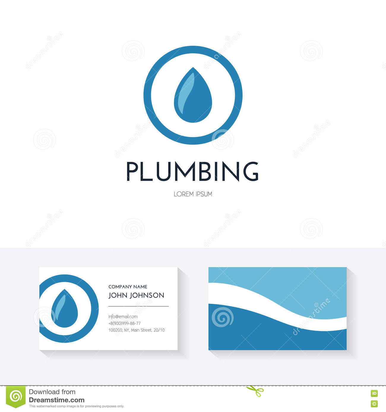 Plumbing Stock Vector Illustration Of Piping Layout 72689338 Pictures Business Identity Collection With Card And Logo Made In Modern Flat Style For Company Or Handyman