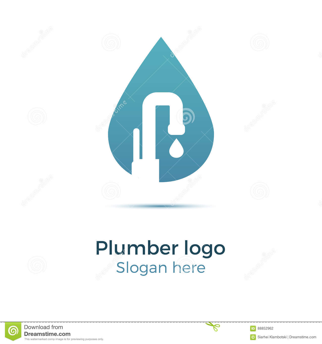 Plumbing company logo stock vector. Illustration of flow - 88852962