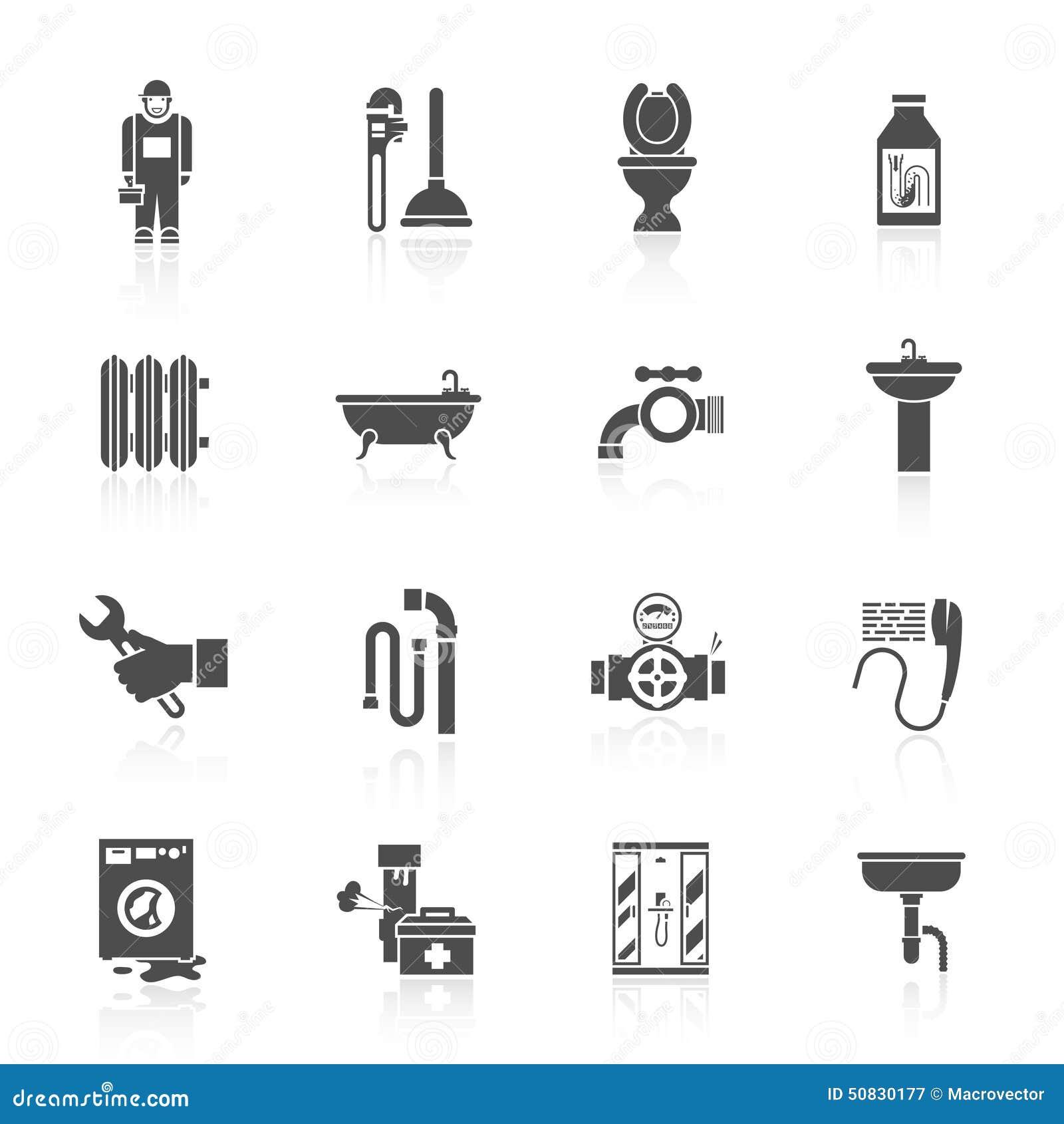 Plumbing Icons Set Stock Vector Image 50830177