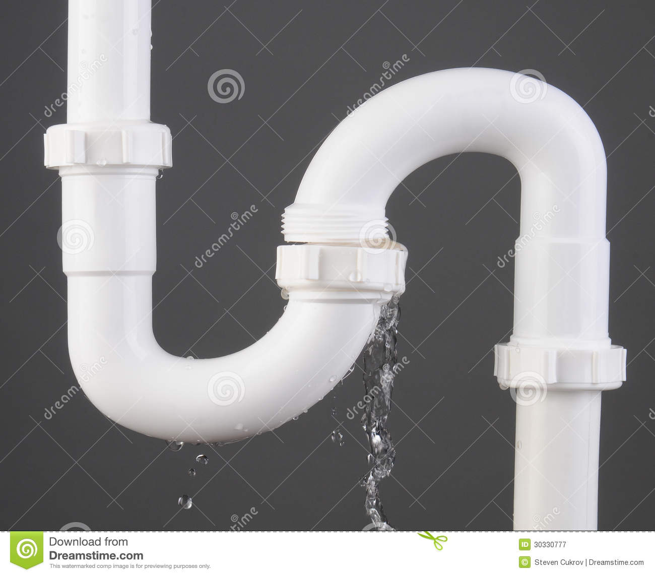 Plumbing Leak Stock Image Image Of Plastic Close Repair