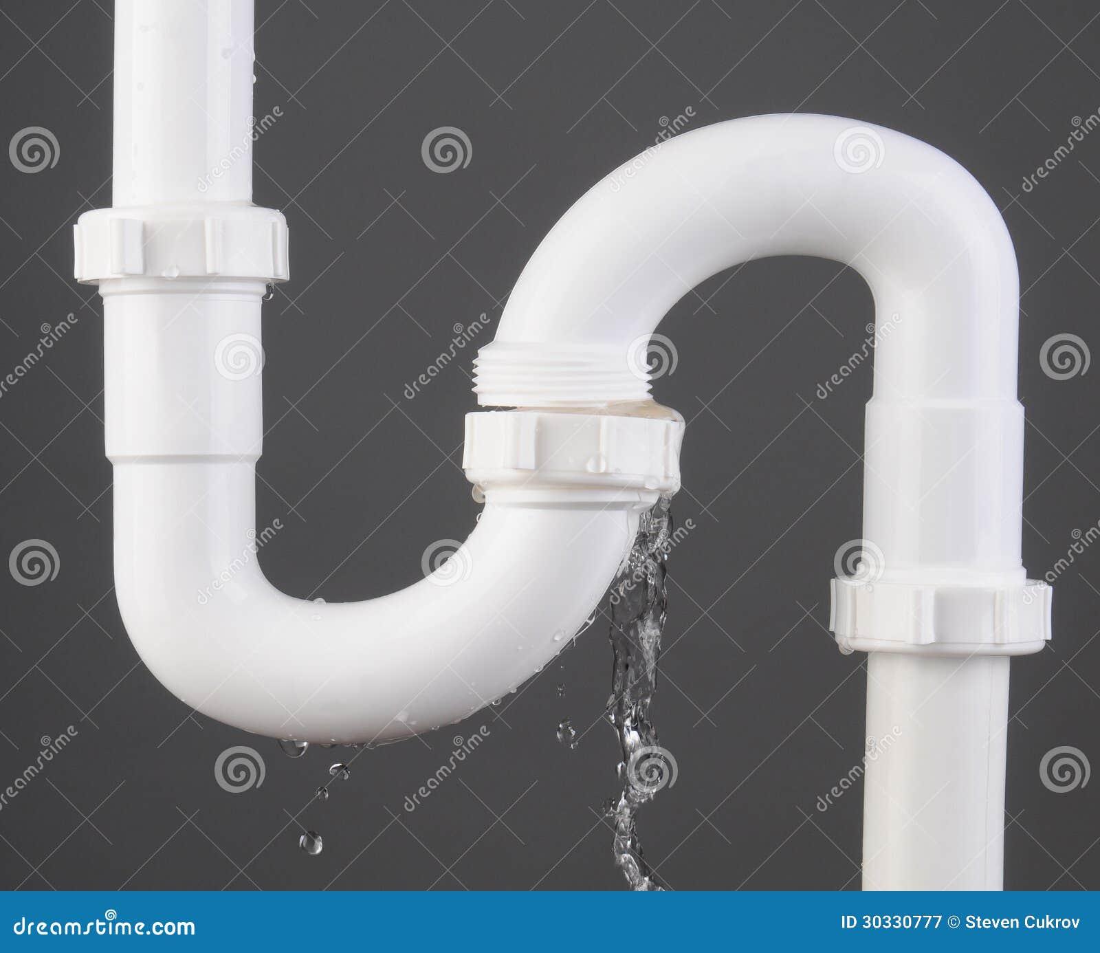 Diy Kitchen Sink Leak: Plumbing Leak Stock Image. Image Of Plastic, Close, Repair