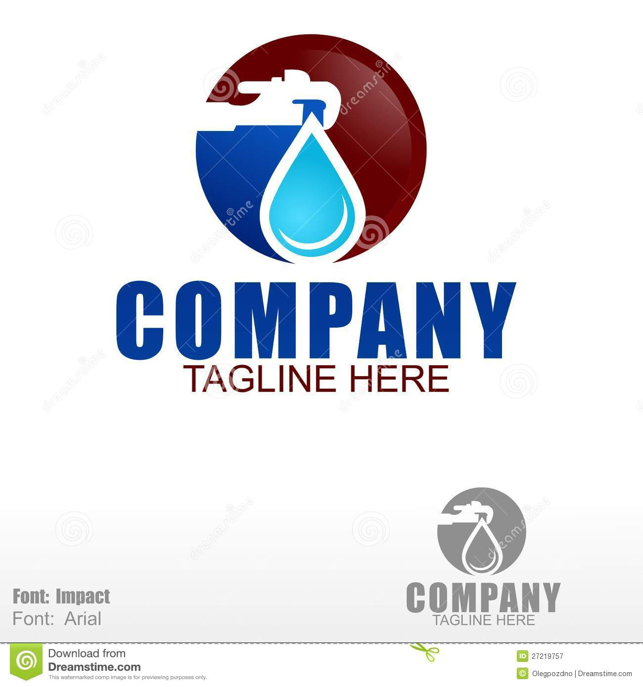 Plumbing logo stock vector illustration of aqueduct