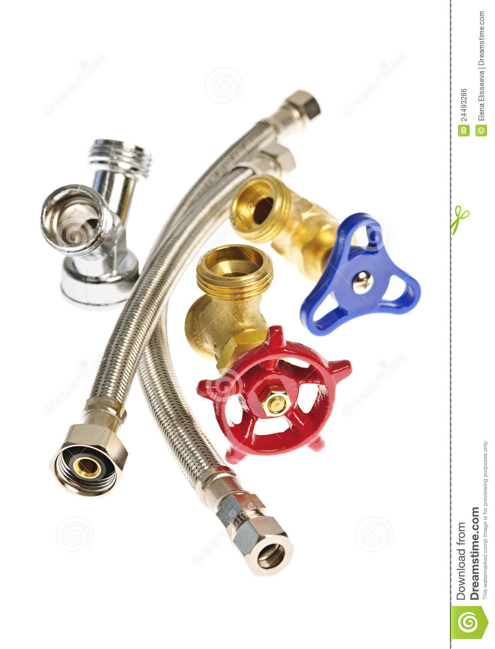 Assorted Hoses Isolated Parts Plumbing