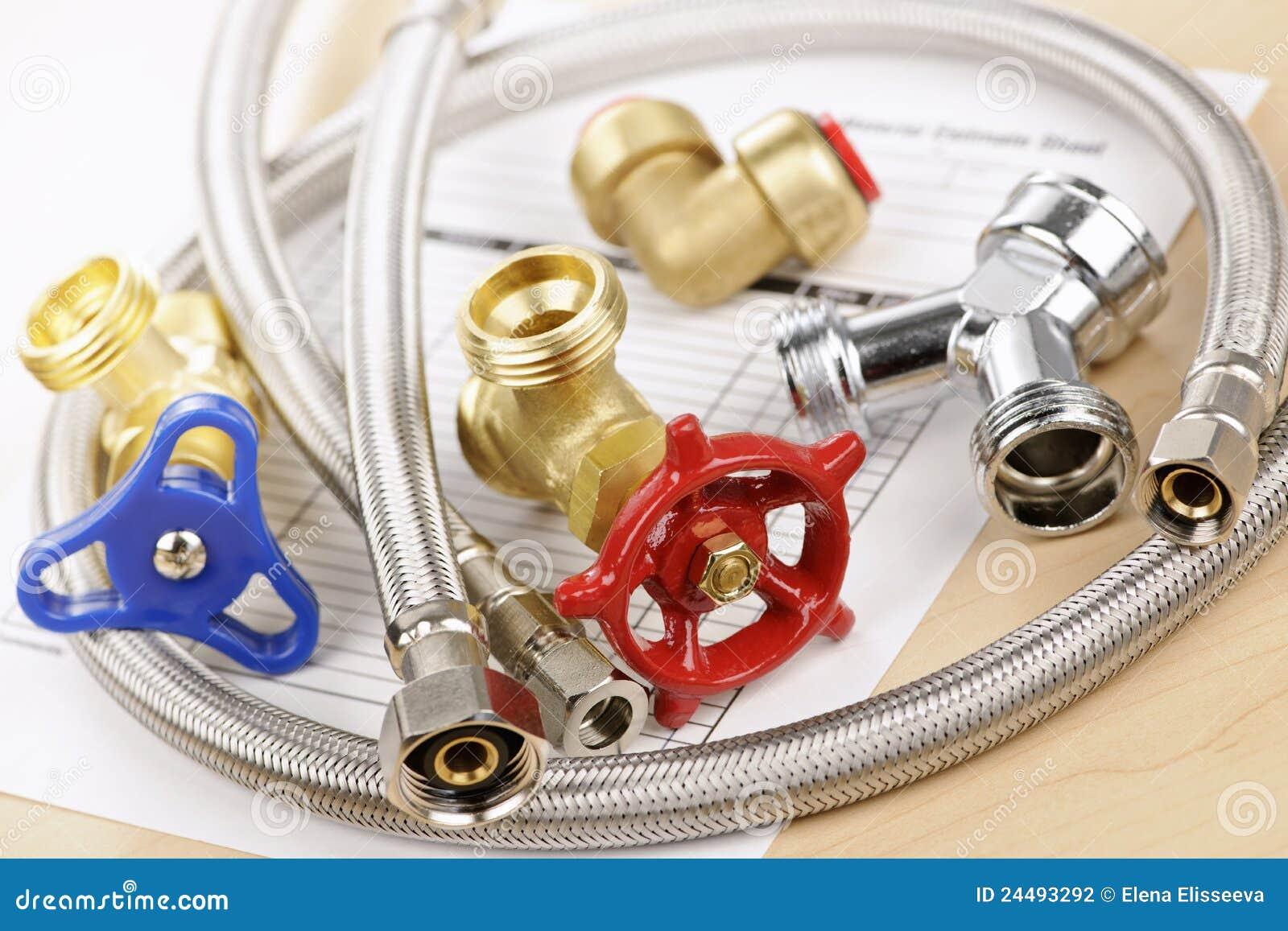 Plumbing parts stock photography image