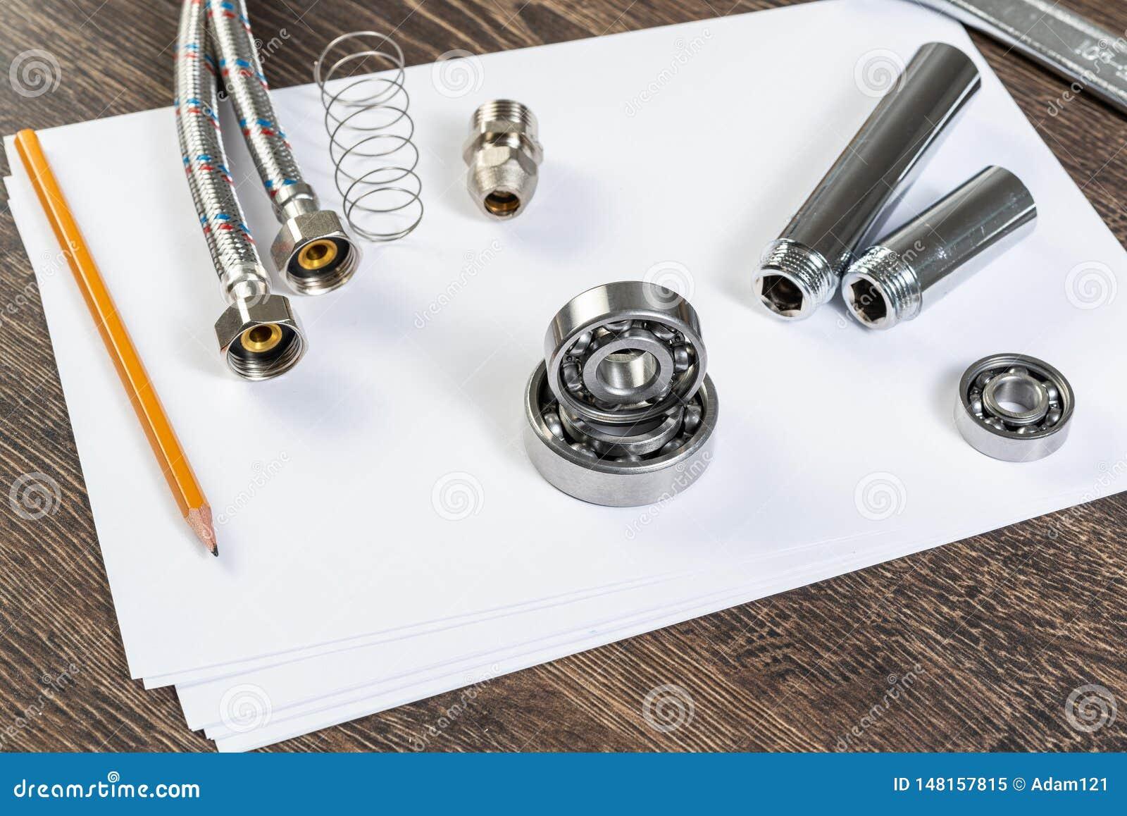 Plumbing pipeline and ball bearings