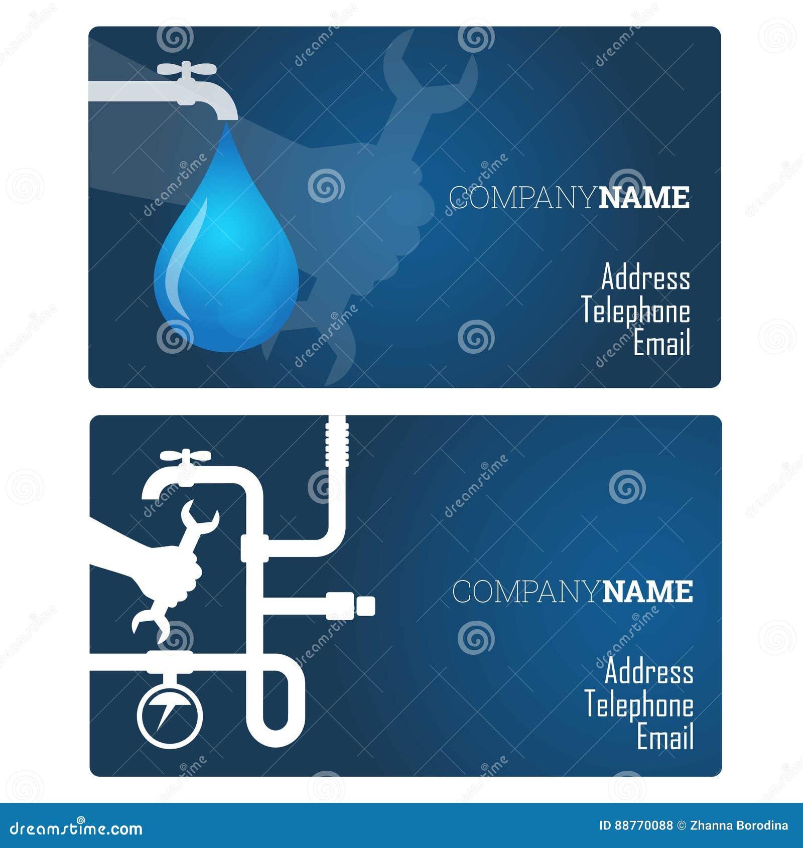 Plumbing repair business card stock vector illustration of vector download comp colourmoves