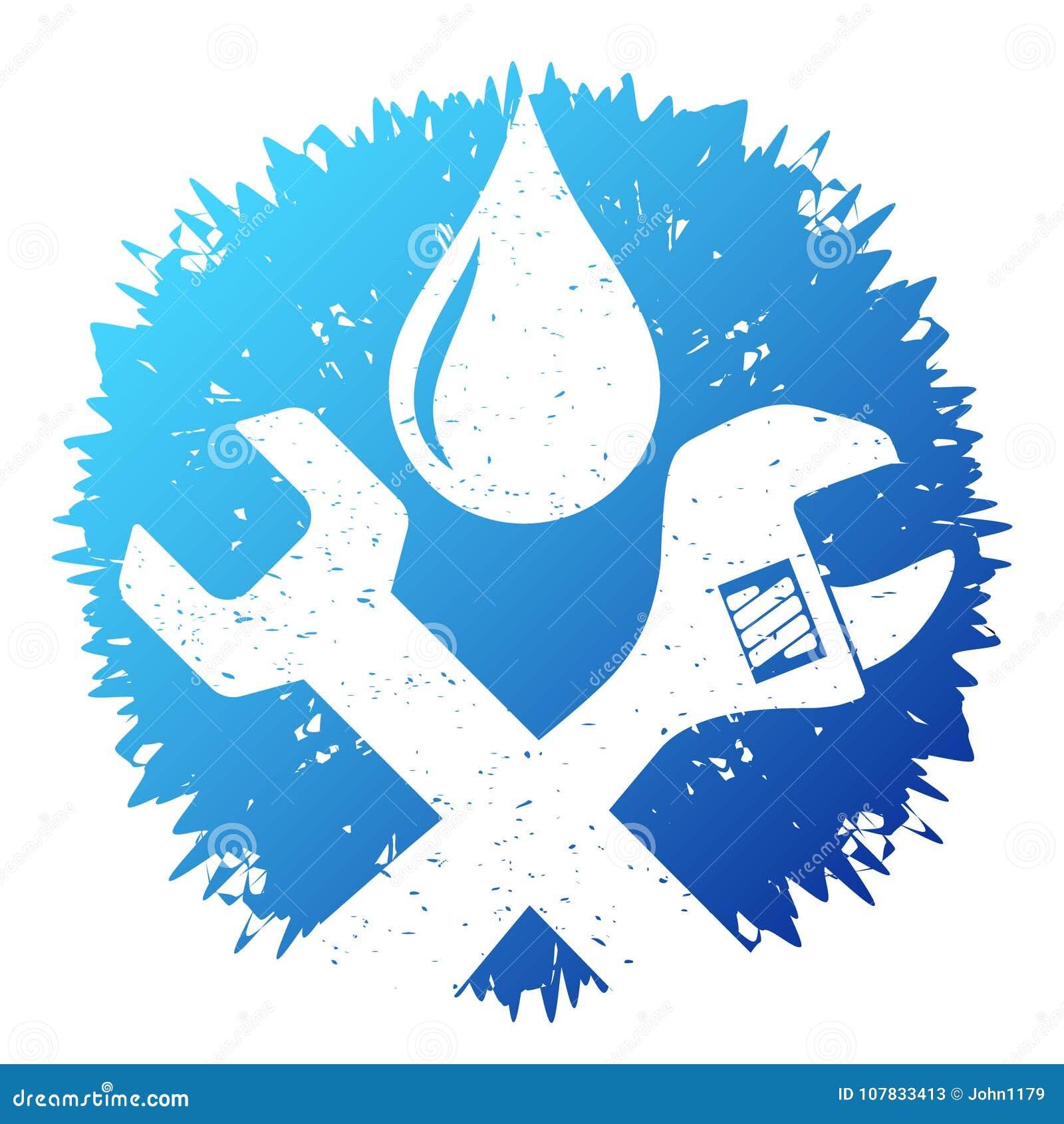 Plumbing Repair Symbol Stock Vector Illustration Of Logo 107833413
