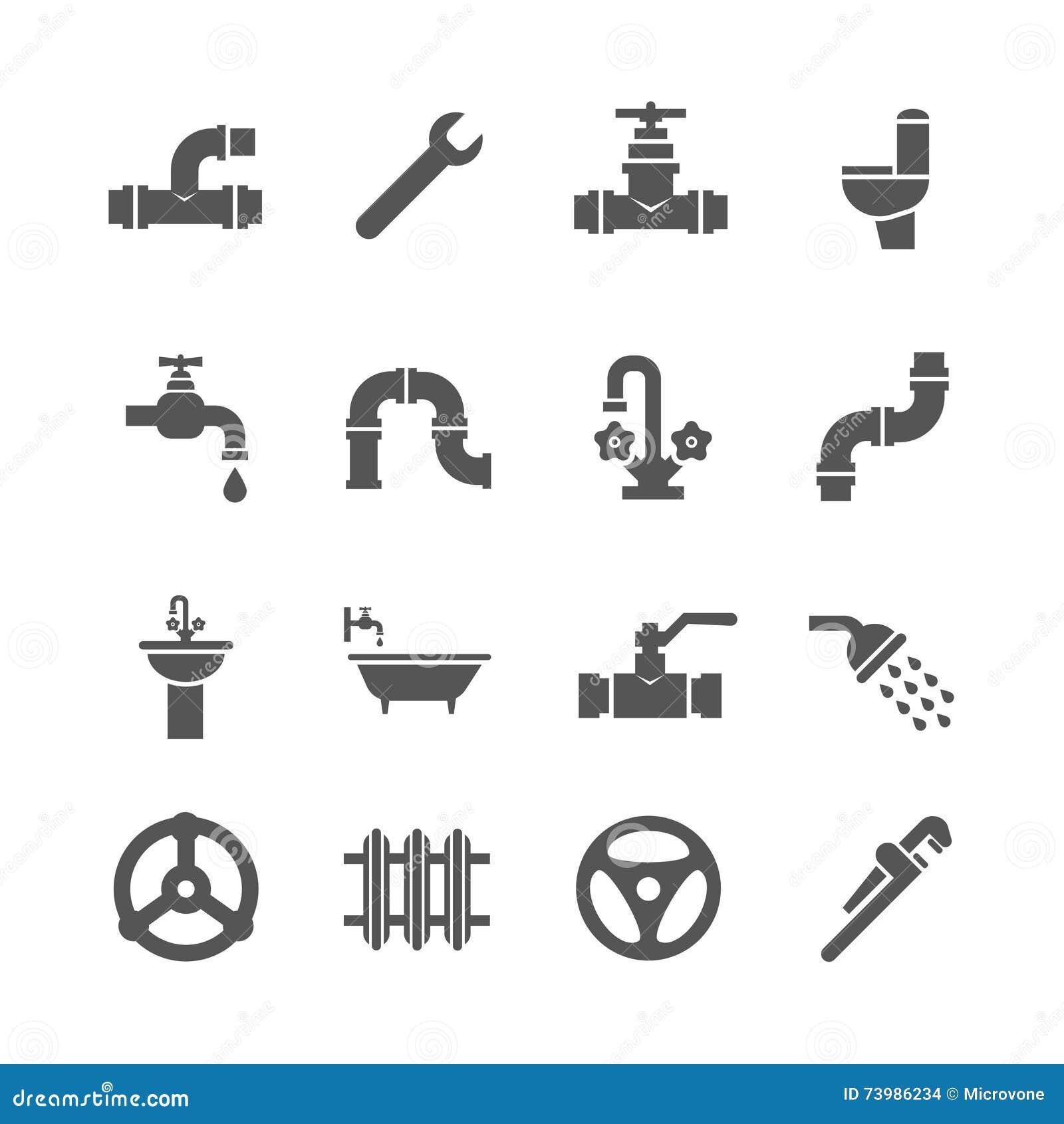 Vector E Sanitary Service : Bathroom vector icons