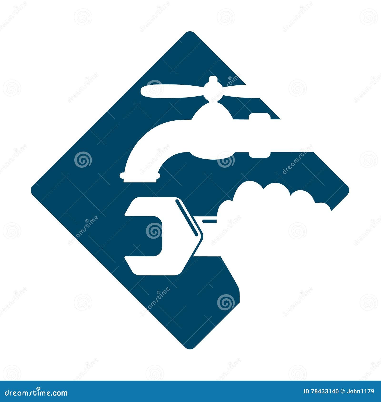Plumbing Service Symbol Stock Vector Illustration Of Industrial