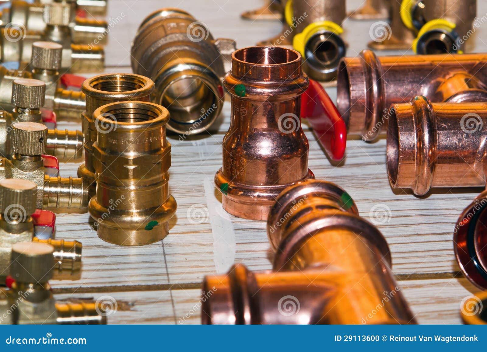 Plumbing supplies stock photo  Image of neat, adapters