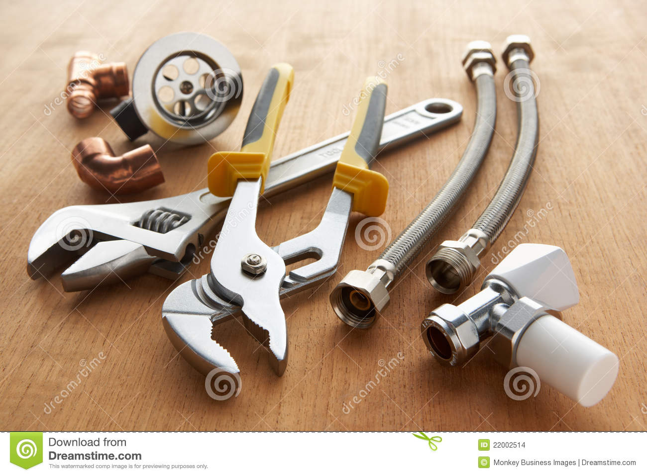 Plumbing Tools And Materials Stock Photo Image 22002514