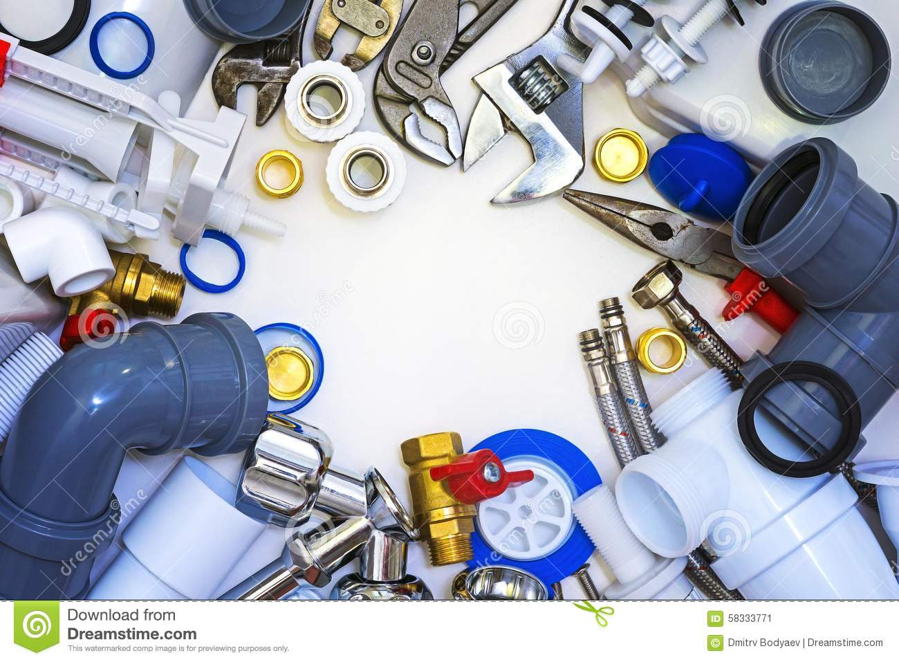 Plumbing Tools And Materials Stock Photo Image 58333771