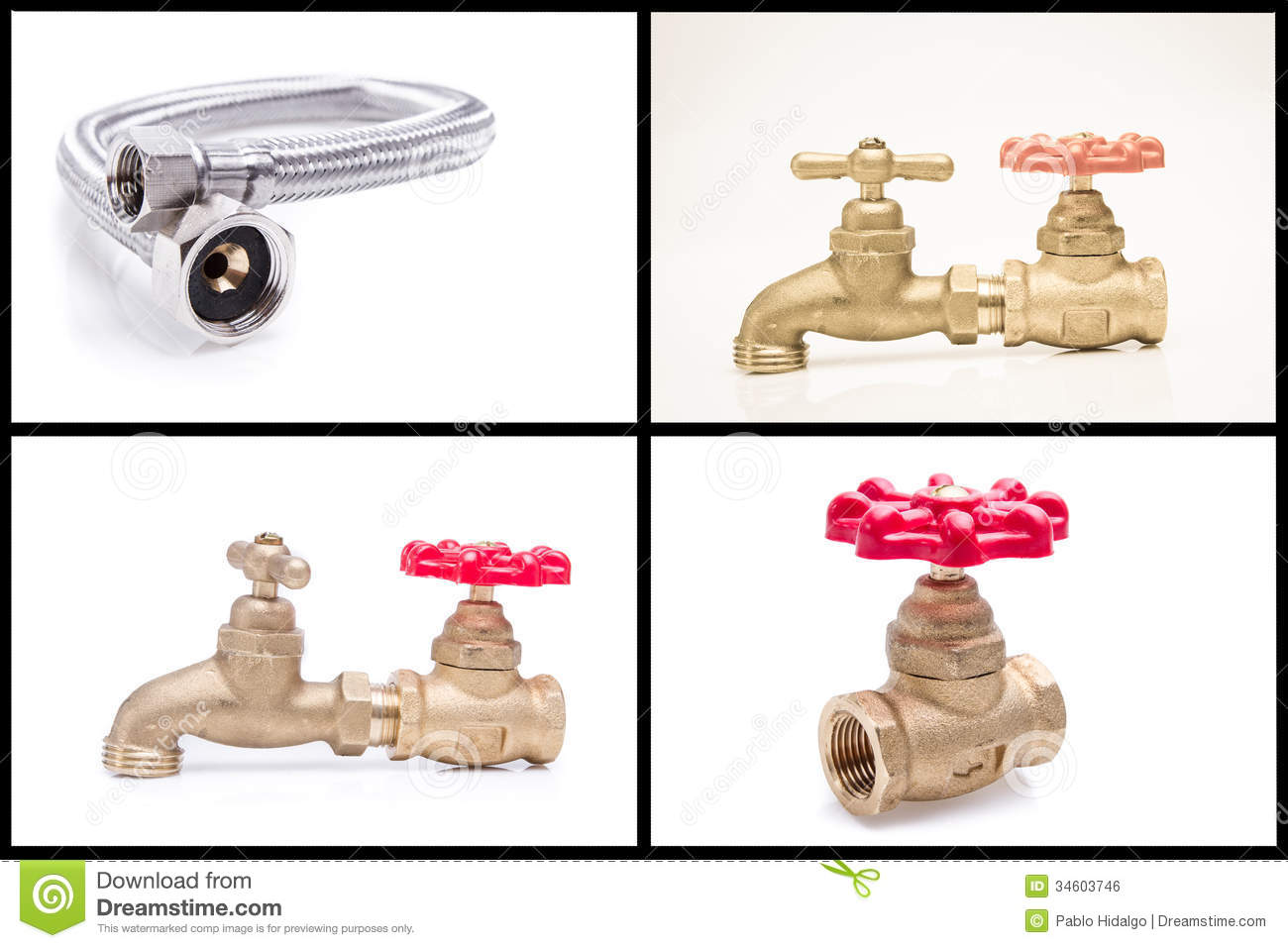 Plumbing tools and materials stock photo image