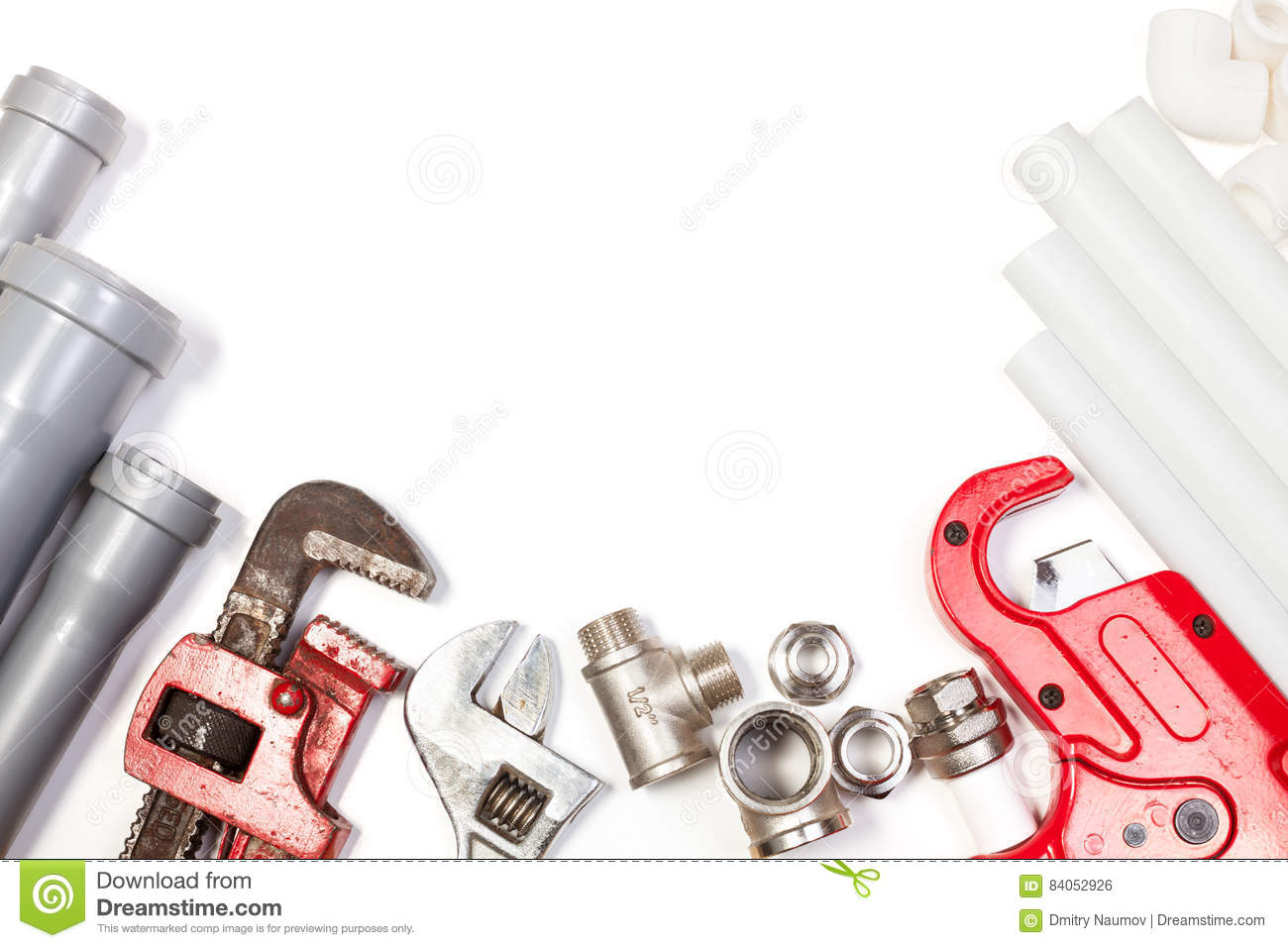 Plumbing Tools Supplies Background Stock Photo Image Of Equipment