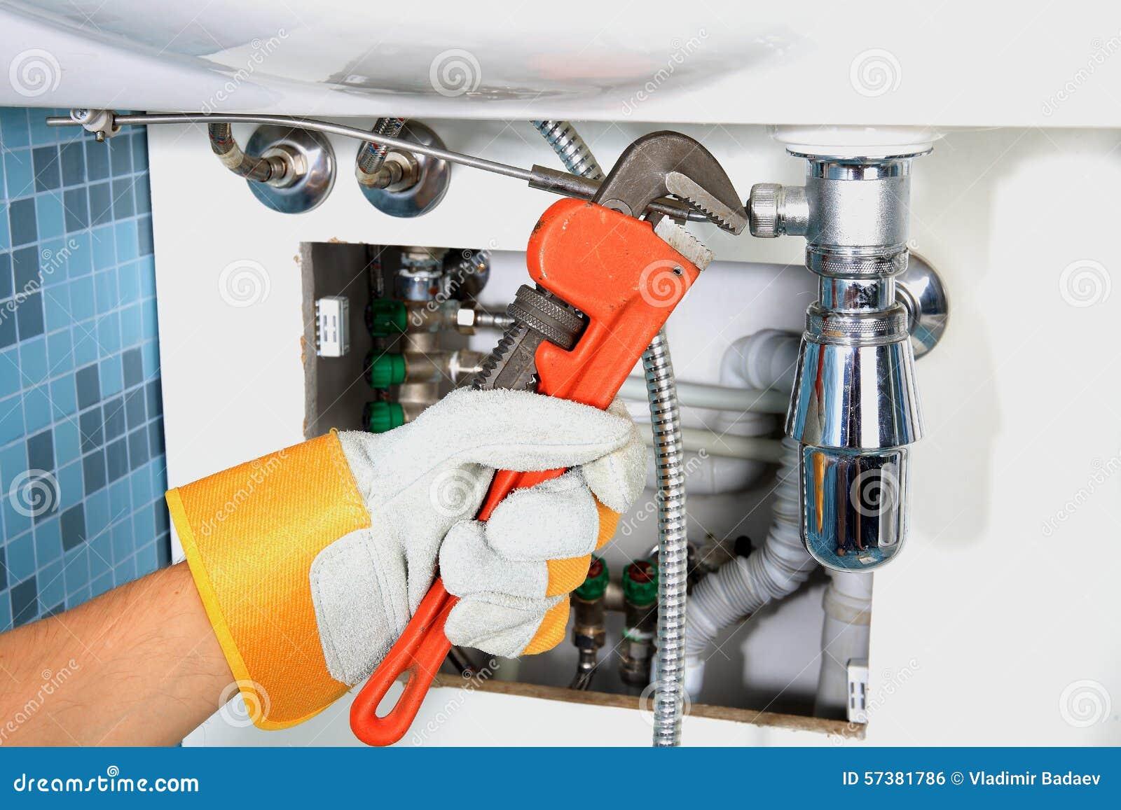 Plumbing Work And Sanitary Engineering Stock Photo - Image of pipe ...