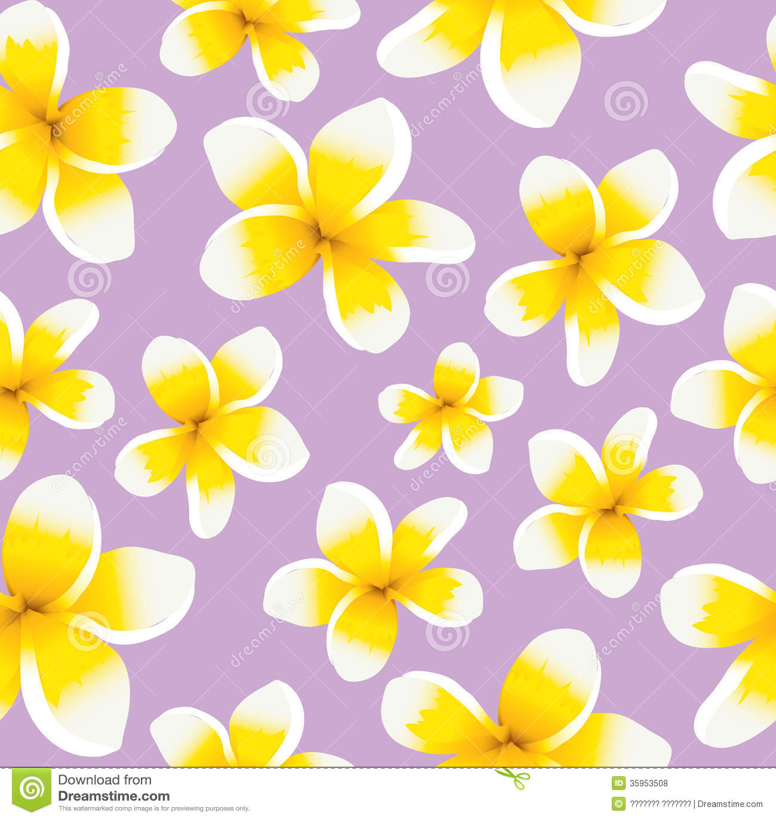 Plumeria inconsútil del amarillo del modelo del fondo floral
