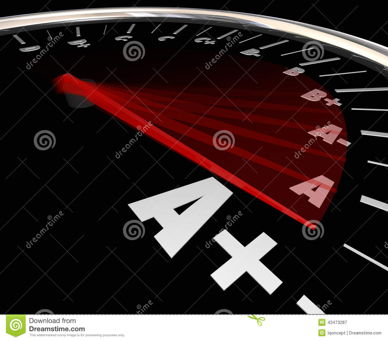 report card a plus top grade rating review evaluation score stock a plus grade score speedometer rising increase improve performan royalty stock photography