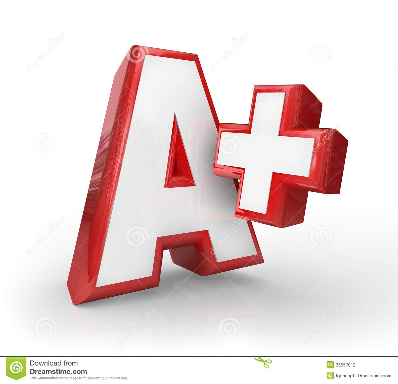 a plus great grade score feedback top rating stock photography   image 35557012