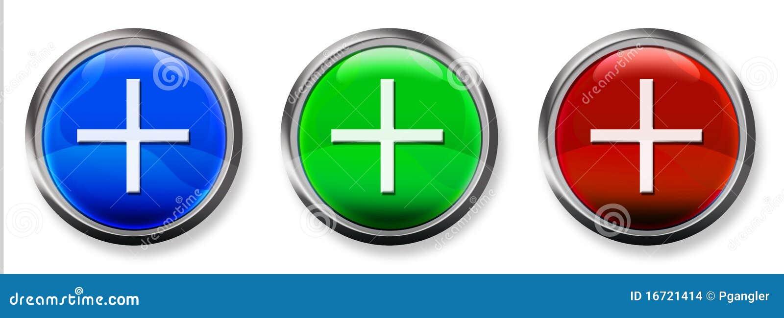plus sign 3d rgb button stock images image 16721414