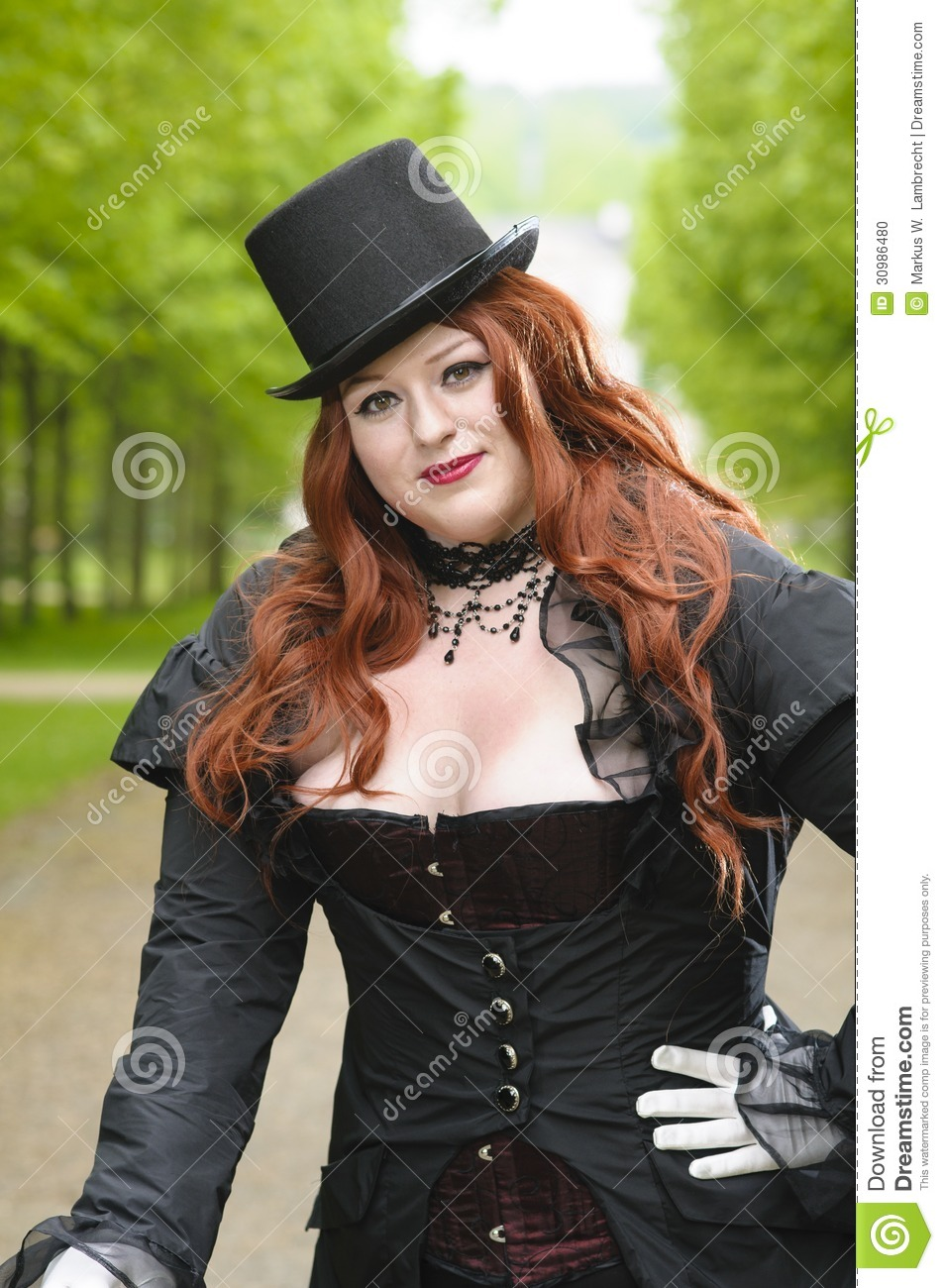Plus Size With Black Top Hat Stock Photo Image 30986480
