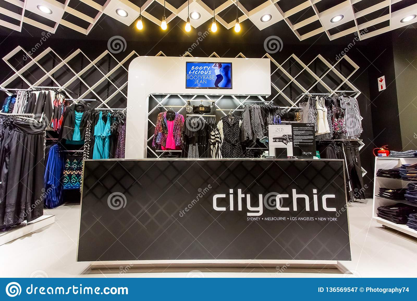 Plus Size Clothing Store City Chic At Sandton City Editorial
