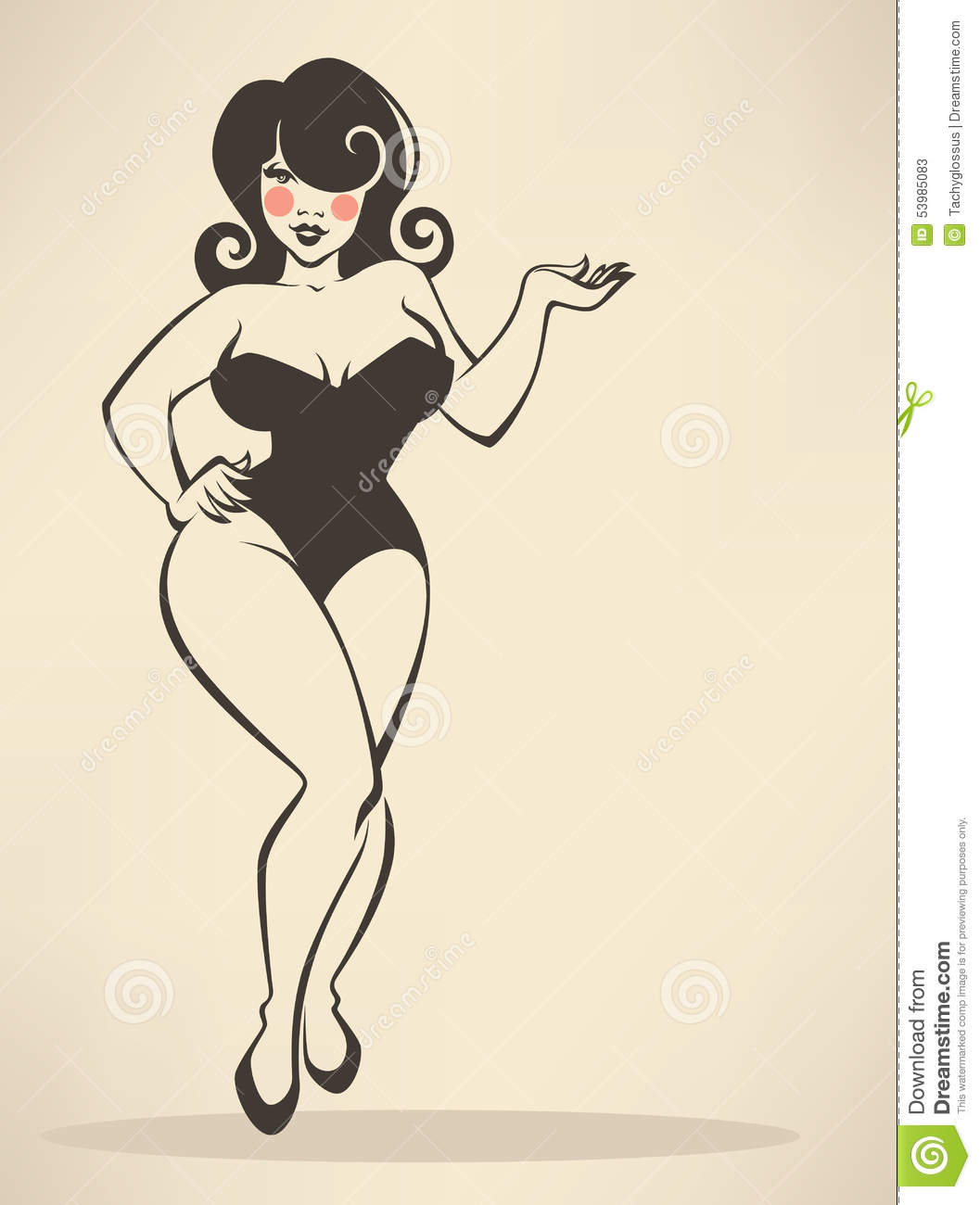 Plus Size Pin Up Stock Illustrations 48 Plus Size Pin Up