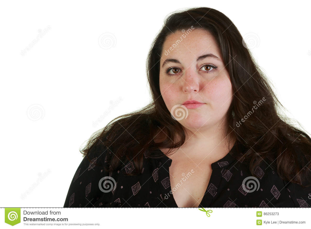 plus size woman posing in the studio stock image - image of
