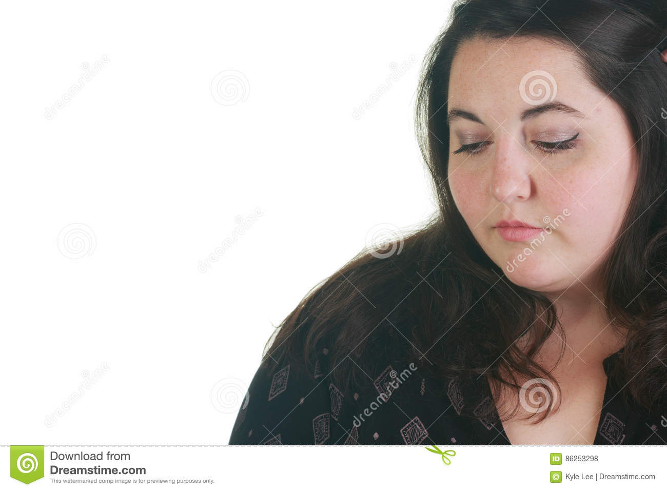 plus size woman posing in the studio stock photo - image of implied